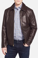 Men's Cole Haan Lambskin Leather Jacket Java