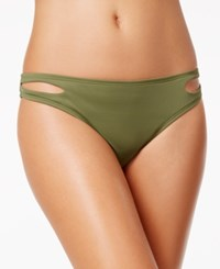 Bar Iii Cut Out Hipster Bikini Bottoms Only At Macy's Women's Swimsuit Army Green
