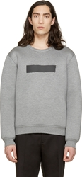 Kris Van Assche Grey Painted Stripe Sweatshirt