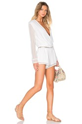 Endless Rose Long Sleeve Romper White