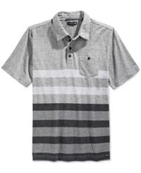 Ocean Current Men's Tod Stripe Pocket Polo Grey Heather
