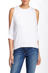 Lily White Drop Shoulder Tee White