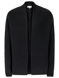 Reiss Rib Edge Cardigan Night Navy
