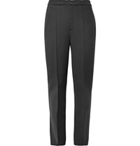 Balenciaga Slim Fit Bonded Wool Jersey Trousers Black