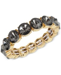 Kenneth Cole New York Gold Tone Black Stone Stretch Bracelet
