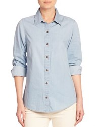 Vineyard Vines Chambray Button Front Shirt Surf Blue