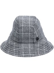 Maison Michel Checked Bucket Hat Black