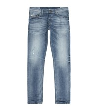 Diesel Tepphar Faded Slim Carrot Jeans Male Blue
