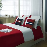 Tommy Hilfiger Red Colour Block Duvet Cover Double