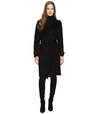 Zac Posen Farrah Wrap Coat Ebony Women's Coat Black