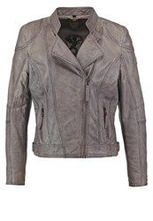 Gipsy Leather Jacket Light Grey