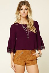 Forever 21 Contemporary Woven Crop Top