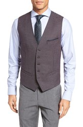 Ted Baker Men's London 'Cabwai' Modern Trim Fit Vest Purple