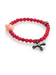 King Baby Studio 6Mm Coral Bead Bracelet Red
