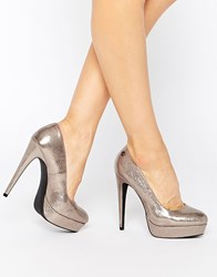 Blink Bianca Platform Heeled Shoes Pewter