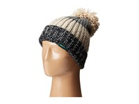 Woolrich Wool Blend Chunky Slouch Cuff Beanie With Matching Pom Black Beanies