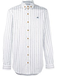 Vivienne Westwood Man Striped 'Krall' Shirt Blue