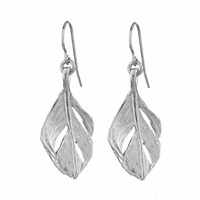 Chupi I Can Fly Midi Swan Feather Earrings Silver