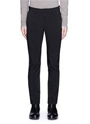 Attachment Slim Fit Tech Cotton Blend Pants Black