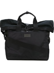 Paul Smith Foldover Top Multi Pockets Tote Bag Black