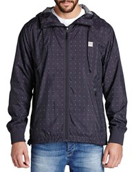 Bench Crank Dot Print Jacket Black