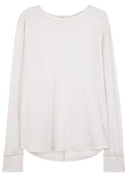 Helmut Lang Stone Cotton And Cashmere Blend Top White