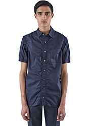 Kolor Ruched Short Sleeved Shirt Navy