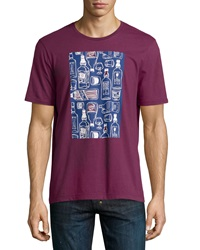 Penguin Bottles Graphic Tee Grape Wine