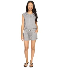 Zobha Sleeveless Hoodie Jumper W Open Cross Back Heather Grey Women's Jumpsuit And Rompers One Piece Gray