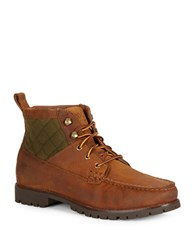 Polo Ralph Lauren Rupert Leather Ankle Boots Tan