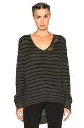 Rta Camille Sweater In Green Stripes Green Stripes