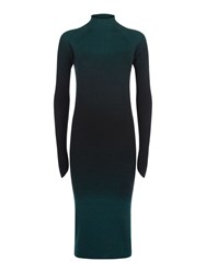 Victorinox Sigrid Spray Dye Rib Dress Green