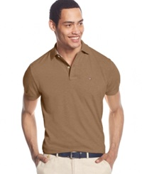 Tommy Hilfiger Custom Fit Ivy Polo Camel Heather