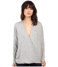 Project Social T Close To Me Surplice Heather Women's Clothing Gray