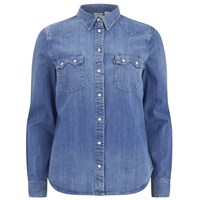 Levi's Women's Modern Sawtooth Relaxed Fit Shirt Ritter Vintage Blue