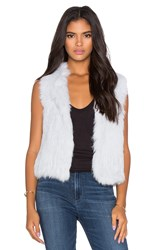 525 America Rabbit Fur Vest Blue