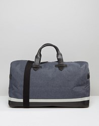 Racing Green Canvas Holdall With Leather Look Trims Blue