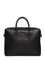 Dolce And Gabbana Palmellato Embossed Leather Briefcase Black