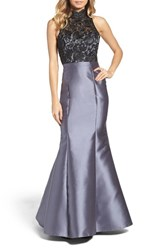 Xscape Evenings Women's Lace And Satin Mermaid Dress