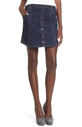 Blank Nyc Women's Blanknyc Button Front Denim Skirt