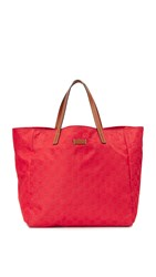 Wgaca Gucci Nylon Gg Tote Previously Owned Red