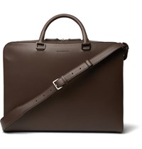 Ermenegildo Zegna Leather Briefcase Brown