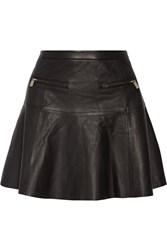 Joie Briza Leather Mini Skirt Black