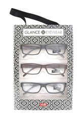Glanceeyewear Women's Square Frame Reader Set Multiple Strengths Available No Color