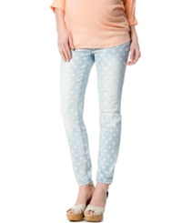 A Pea In The Pod Maternity Polka Dot Skinny Jeans Light Wash