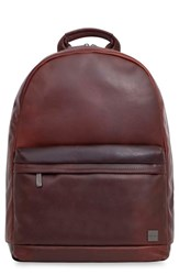Knomo Men's London Barbican Albion Leather Backpack Brown