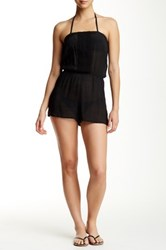 Laundry By Shelli Segal Solid Romper Black