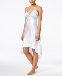 Flora By Flora Nikrooz Adore Charmeuse And Lace Nightgown White