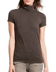 Lauren Ralph Lauren Petite Jersey Short Sleeve Turtleneck Dark Heather