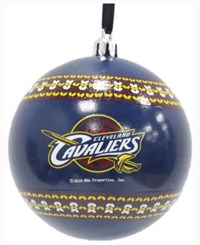 Memory Company Cleveland Cavaliers Ugly Sweater Ball Ornament Navy
